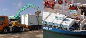 海上輸送対応コンテナ
