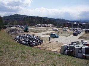震災直後より仙台市の片付ごみ仮置場の運営に関与:搬出量 42千t